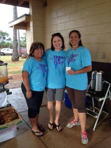 Patti getting ready for Kauai Relay for Life