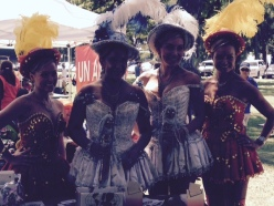 Bolivian Dance Crew Poses for American Cancer Society Hawaii at Hispanic Heritage Festival