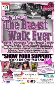 KBIG Breast Walk Ever Hawaii Island Oct 18 2015