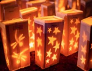 Luminaria at Relay For Life of Magic Island