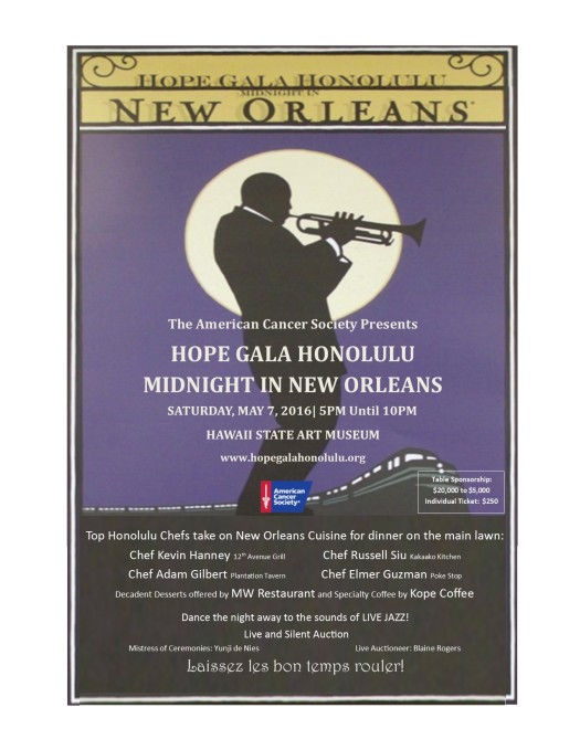 Join us for Midnight in New Orleans www.hopegalahonolulu.org