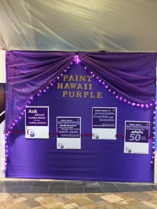 Windward Mall supports Paint Hawaii Purple campaign